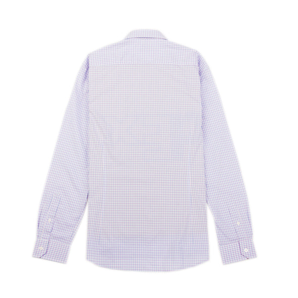 RAYMOND SLIM SHIRT - PURPLE/BLUE TATTERSALL