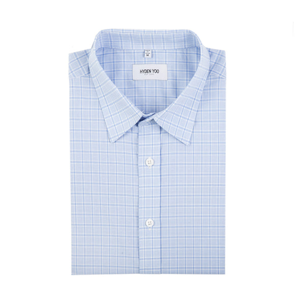 RAYMOND SLIM SHIRT - LIGHT BLUE TATTERSALL