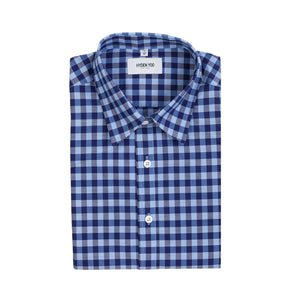 PRESTON SHIRT - NAVY BLUE CHECKERS