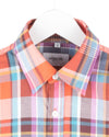 CONNOR SHIRT RUST AQUA PLAID