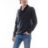 SHAWL COLLAR SWEATER - CHARCOAL