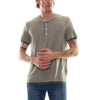 DOUBLE LAYER SHORT SLEEVE HENLEY