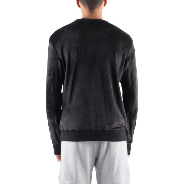 VELOUR SWEATSHIRT - BLACK