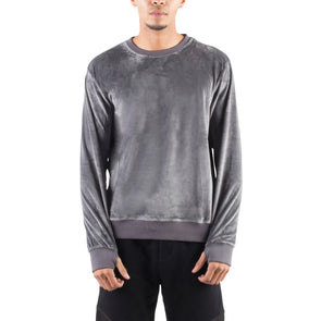 VELOUR SWEATSHIRT - CHARCOAL