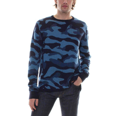 BLUE CAMO SWEATER