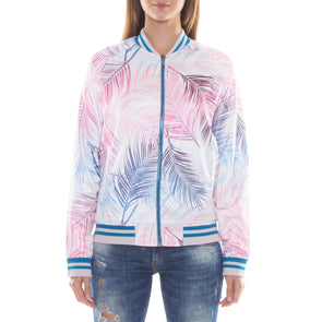 BLUE/PINK LIGHT BOMBER JACKET