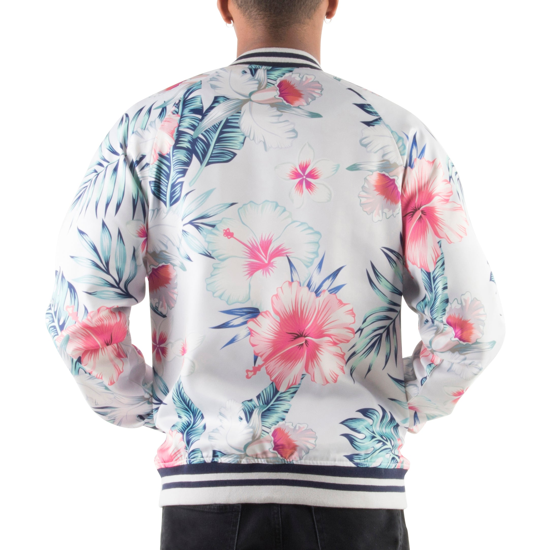 GREY/PINK LIGHT BOMBER JACKET