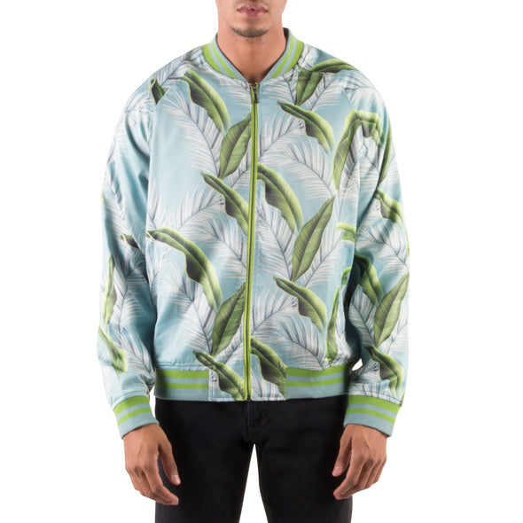 GREEN LEAF LIGHT BOMBER JACKET
