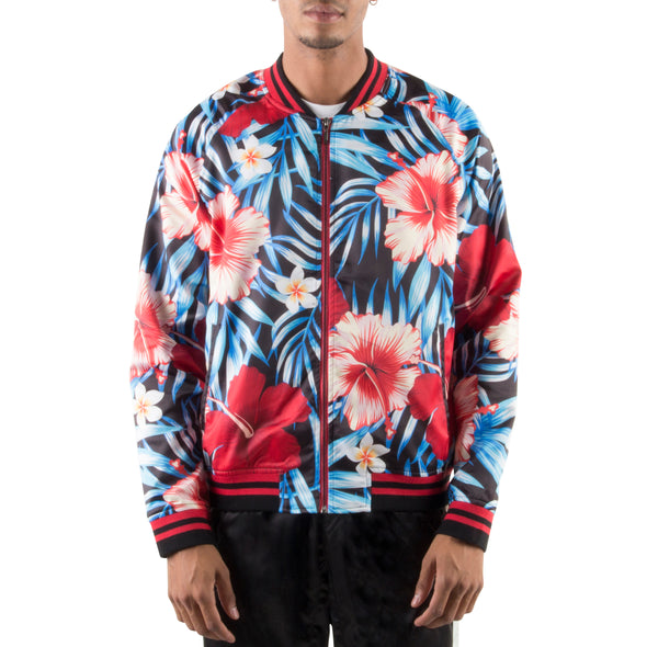 RED/BLACK LIGHT BOMBER JACKET