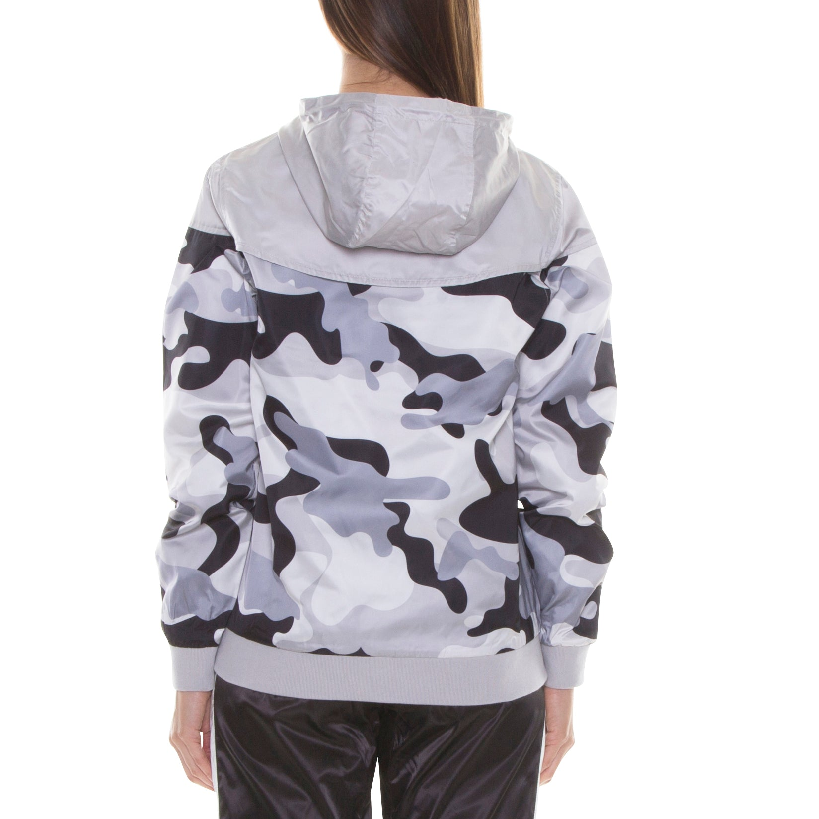 GREY CAMO LIGHT HOOD JACKET