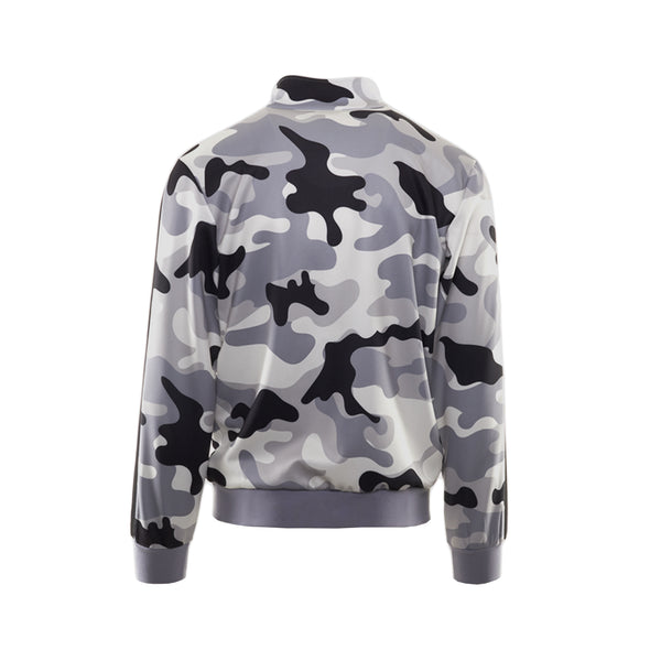 GREY CAMO ZIP FRONT TRACK JACKET