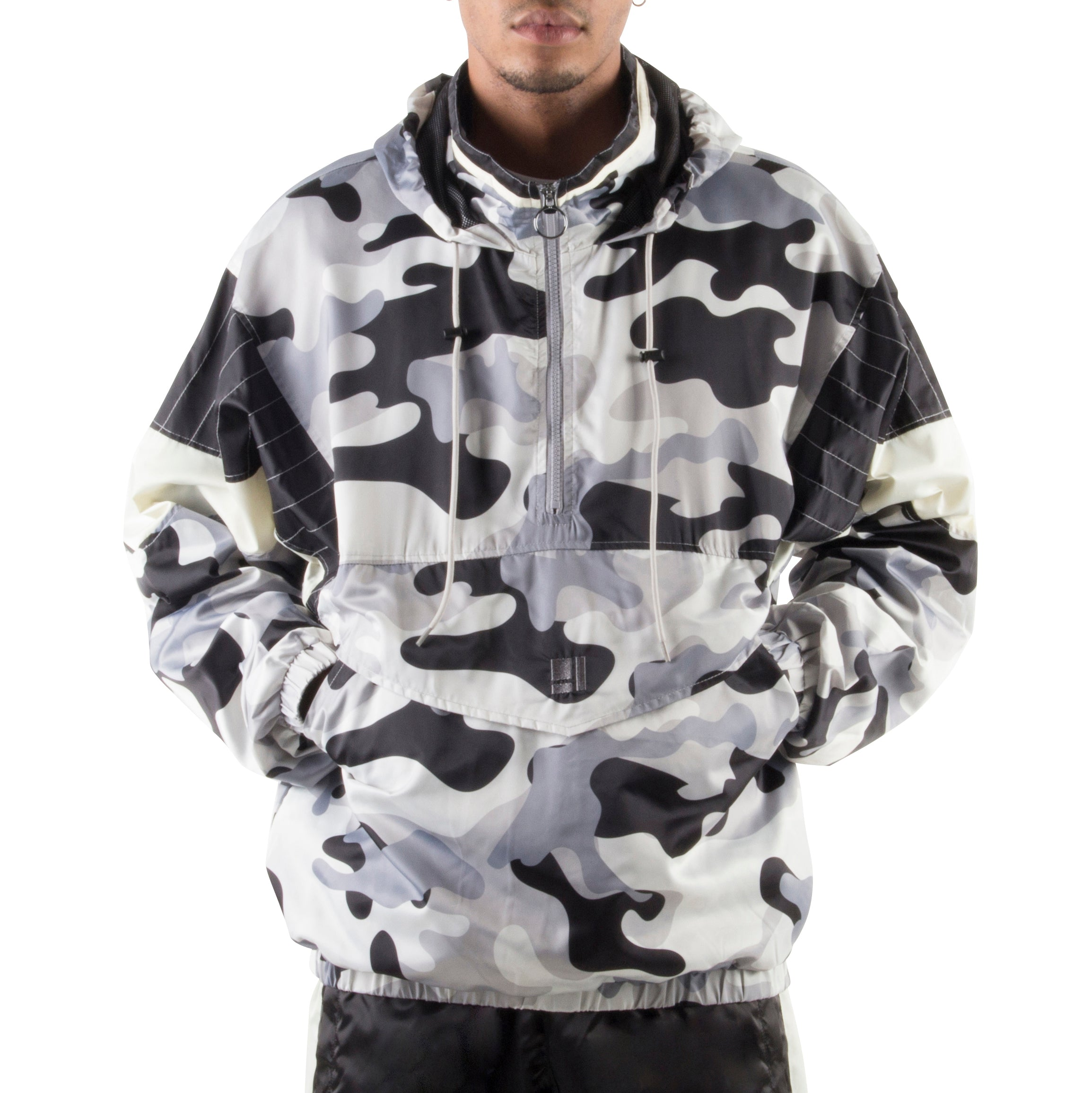 GREY CAMO LIGHT PULLOVER JACKET