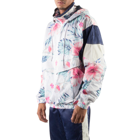 GREY/PINK LIGHT PULLOVER JACKET