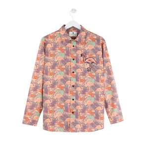 FLAMINGO ALL-OVER PRINTED SHIRT