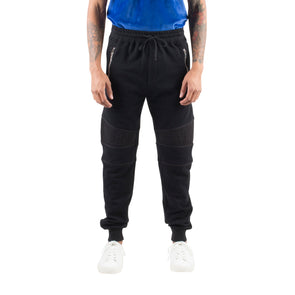 RELAXED MOTO JOGGERS - BLACK
