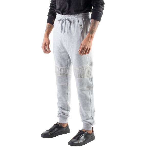 RELAXED MOTO JOGGERS - GREY