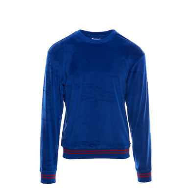 VELOUR SWEATSHIRT - ROYAL BLUE