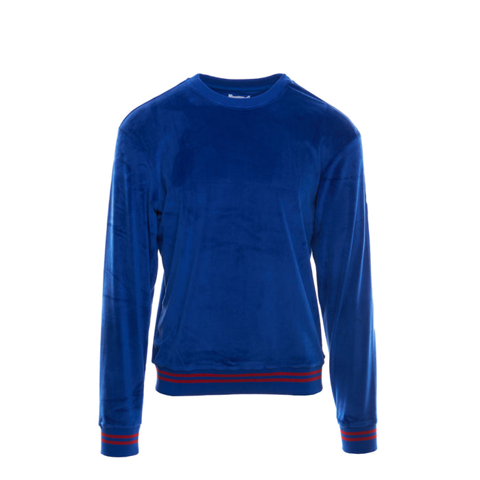 SKC333 VELOUR SWEATSHIRT - ROYAL BLUE
