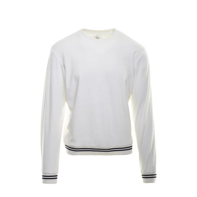 VELOUR SWEATSHIRT - WHITE