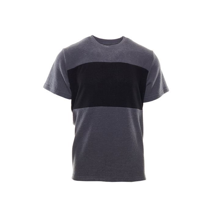 HACCI CREW NECK TEE - ANTHRACITE /BLACK