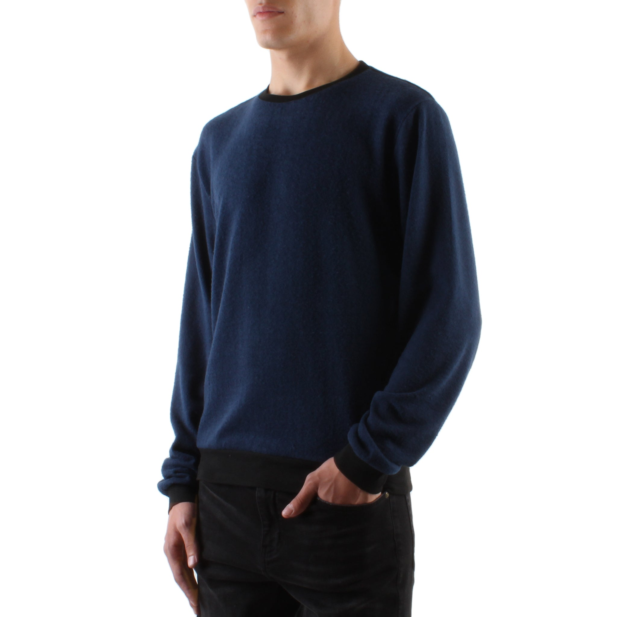 HACCI NAVY LONG SLEEVED CREW