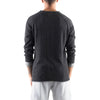 ROLLED EDGE RAGLAN SWEATER - BLACK