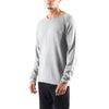 ROLLED EDGE RAGLAN SWEATER - HEATHER GREY