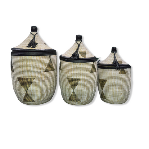 Diakhou Leather Baskets