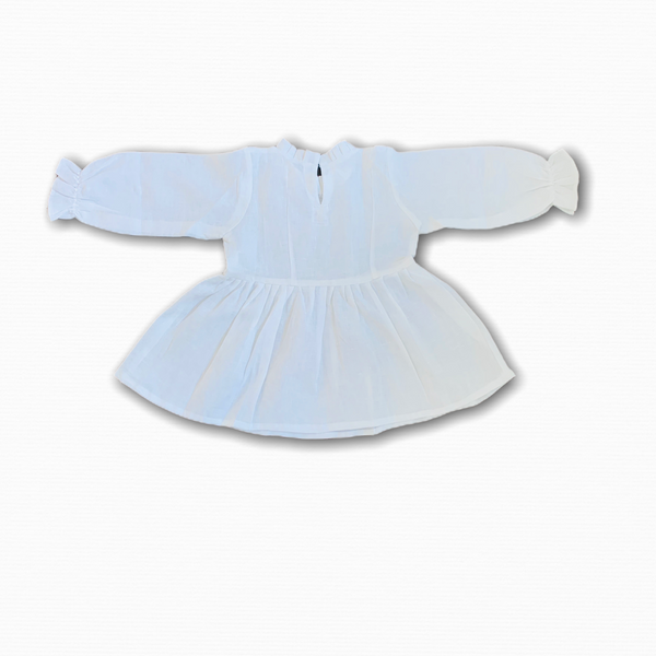 Linen White Blouse/ 2-3 years