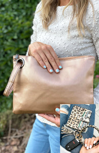 Three Button Denim Skirt