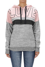 Load image into Gallery viewer, LOVE Block Fleece Hoodie