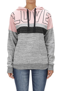 LOVE Block Fleece Hoodie