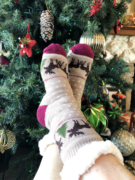 Sherpa Holiday Socks-Adult size