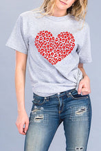 Load image into Gallery viewer, Leopard Heart Tee