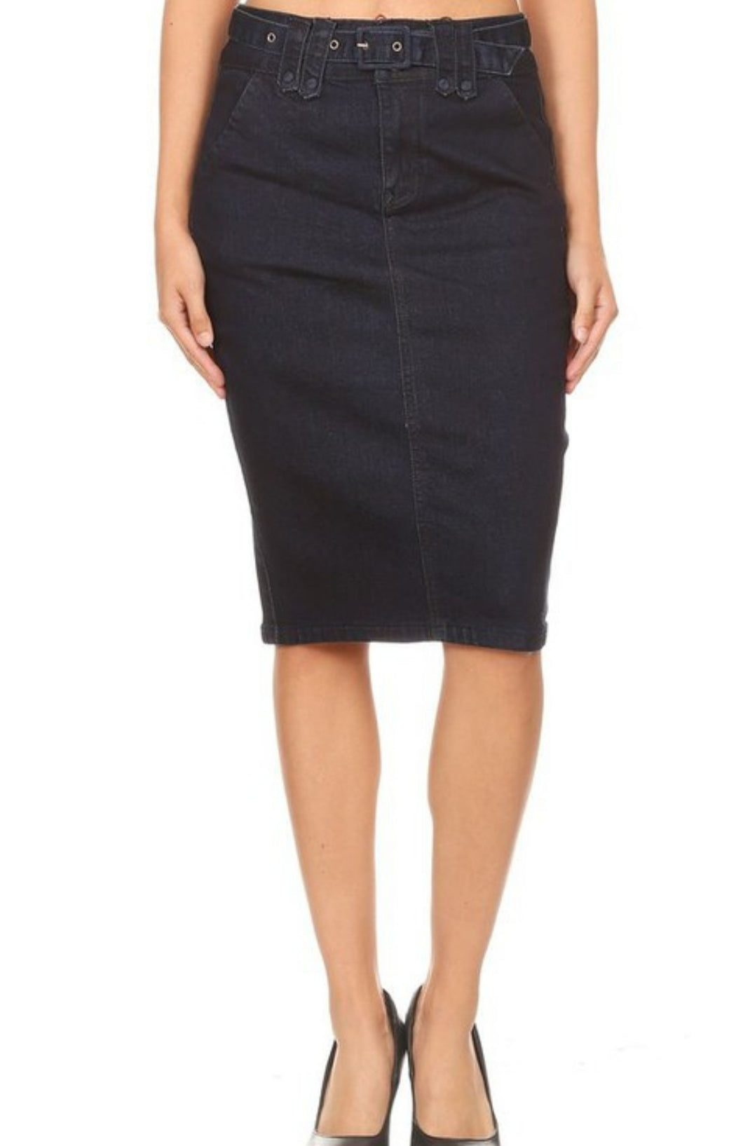 Nina Rossi Denim Pencil Skirt