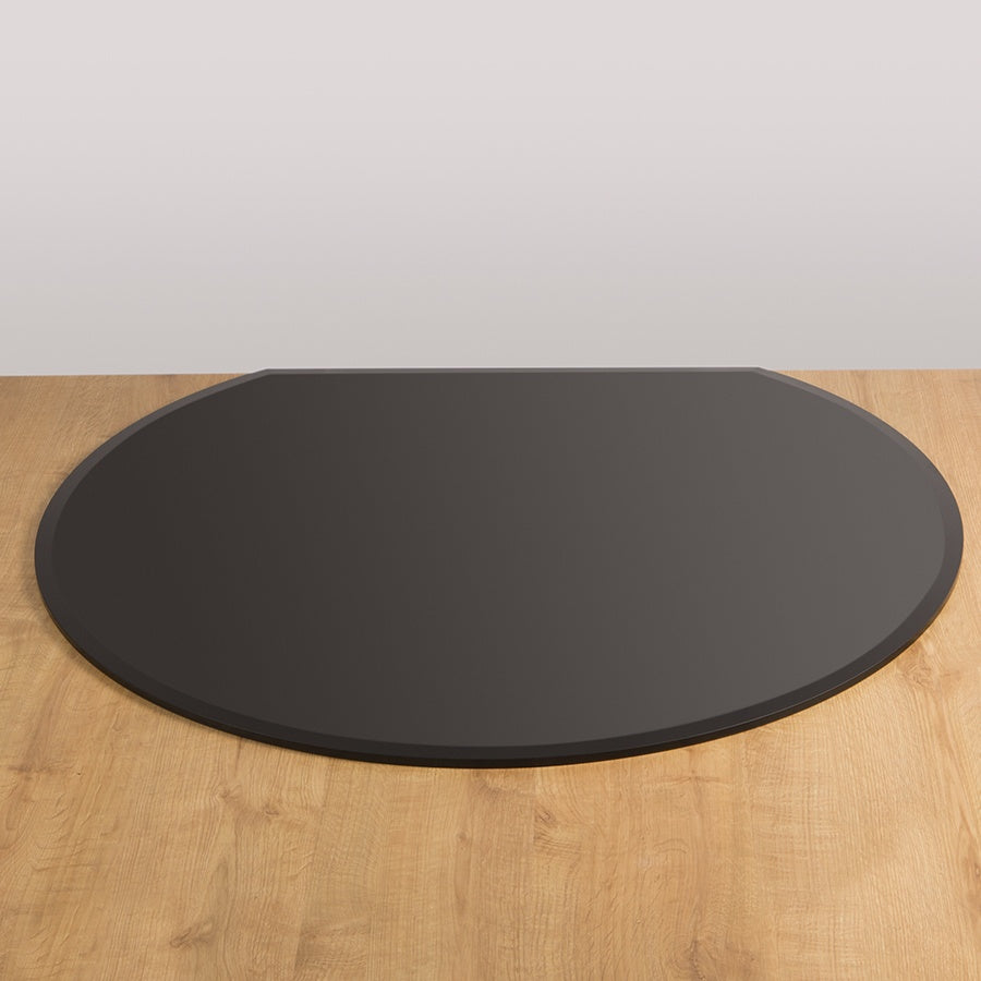 Morso - Flat Back Circle Glass Hearth Plate - Black