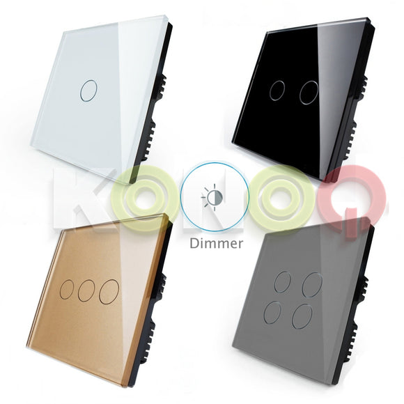 KONOQ Luxury Glass Panel Touch LED Light Smart Switch DIMMER
