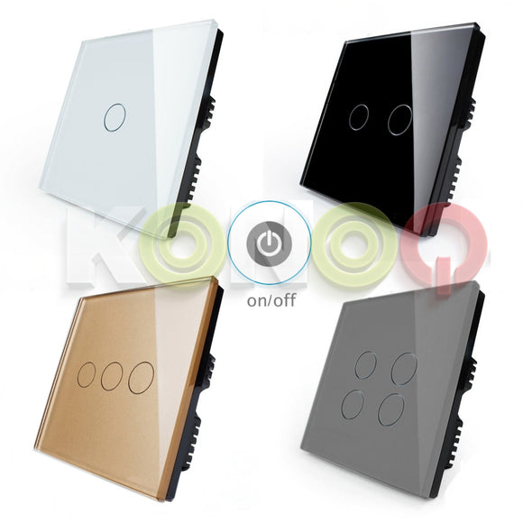 KONOQ Luxury Glass Panel Touch LED Light Smart Switch ON/OFF