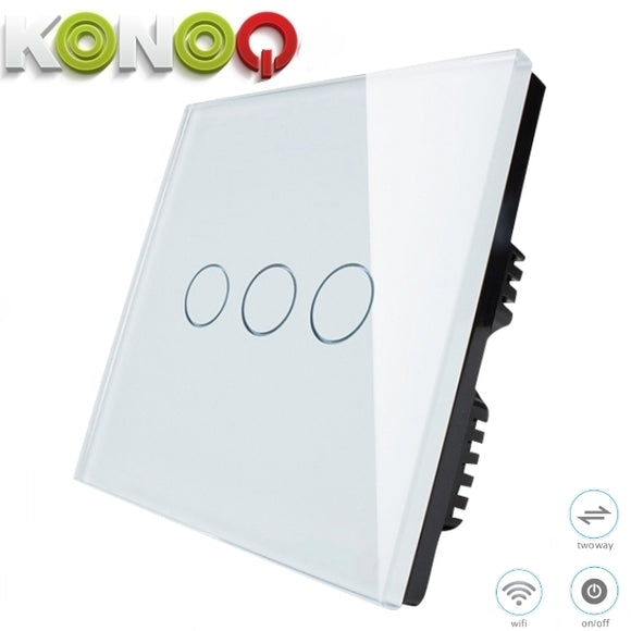 KONOQ - 3Gang 2Way Wifi Integrated On/Off