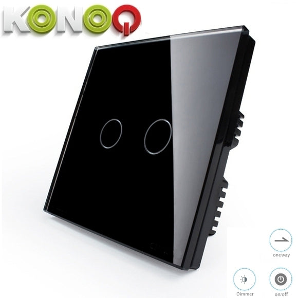 KONOQ - 2Gang 1Way Dimmer Switch