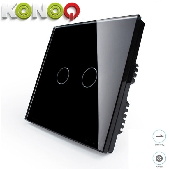 KONOQ - 2Gang 1Way On-Off Switch