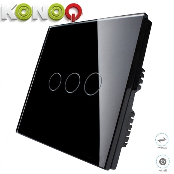 KONOQ - 3Gang 2Way On-Off Switch