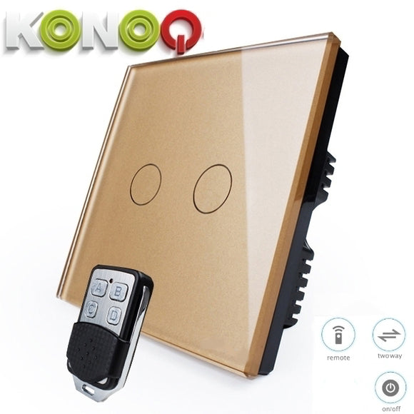 KONOQ - 2Gang 2Way Wifi On-Off Switch (Via Broadlink)
