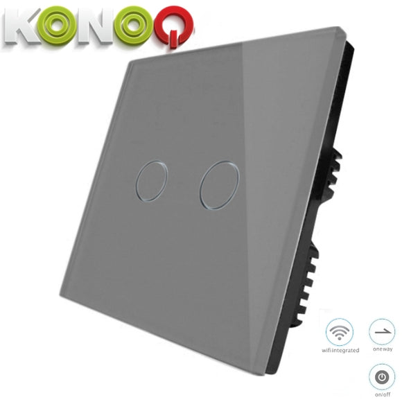KONOQ - 2Gang 1Way Wifi Integrated On/Off