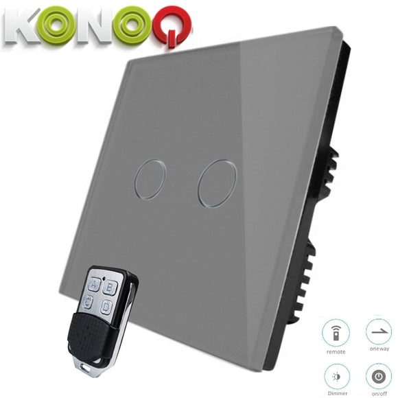 KONOQ - 2Gang 1Way Wifi Dimmer Switch (via Broadlink)