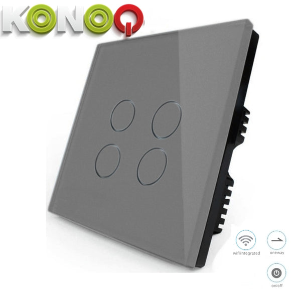KONOQ - 4Gang 1Way Wifi Integrated On/Off