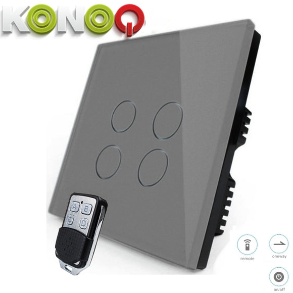 KONOQ - 4Gang 1Way Wifi On-Off Switch (Via Broadlink)
