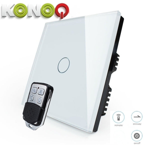 KONOQ - 1Gang 1Way Wifi On-Off Switch (Via Broadlink)