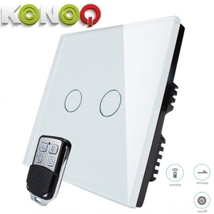 KONOQ - 2Gang 1Way Wifi On-Off Switch (Via Broadlink)