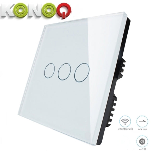 KONOQ - 3Gang 1Way Wifi Integrated On/Off